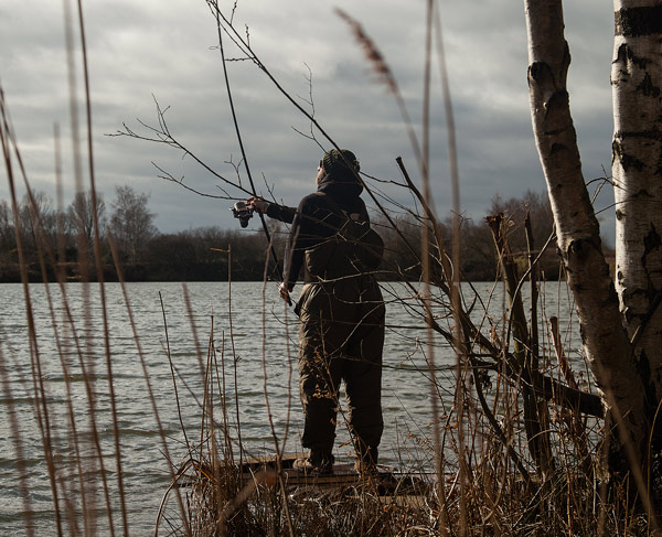 A single cast to showing fish is often all that is needed in the winter